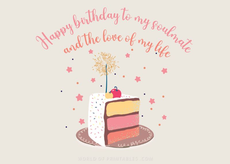 birthday wishes-happy-birthday-wife  to my soulmate and the love of my life